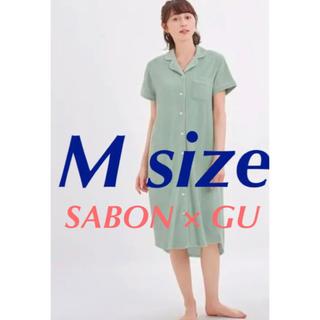 GU - GU Sabon パイル パジャマ ラウンジ ワンピ  M サボン