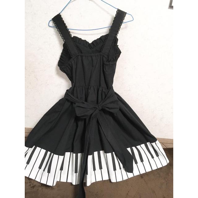 Innocent World(イノセントワールド)のHeartE ピアノ 鍵盤 ジャンパースカート レディースのワンピース(ひざ丈ワンピース)の商品写真