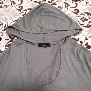 アズールバイマウジー(AZUL by moussy)のAZUL   フード付きトップス Tシャツ(Tシャツ(半袖/袖なし))