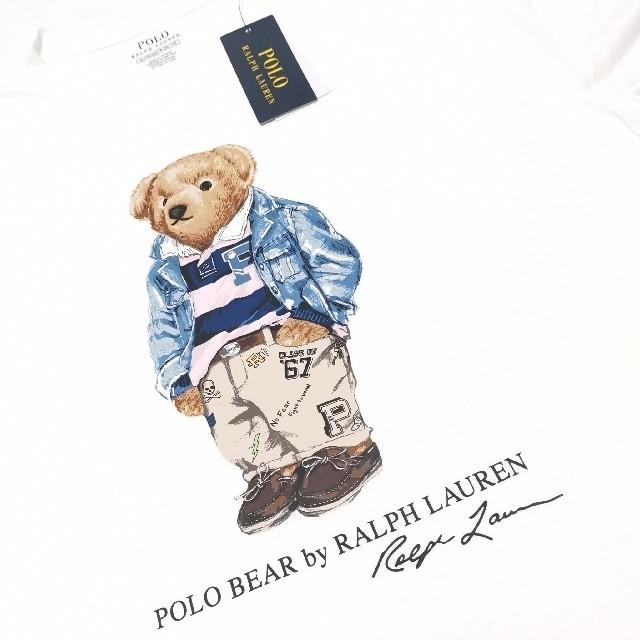 Ralph Lauren(ラルフローレン)のRALPH LAUREN ポロベア ホワイト 170 2枚セット 国内正規品 レディースのトップス(Tシャツ(半袖/袖なし))の商品写真