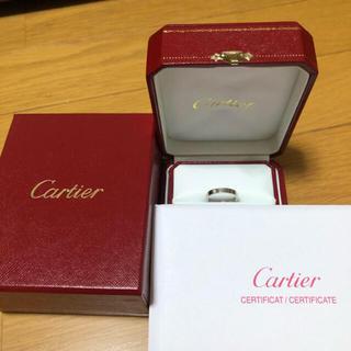 Cartier - カルティエ  ダイヤ エングレーブド リング 指輪