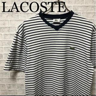 ラコステ(LACOSTE)の ラコステ LACOSTE VネックTシャツ shirt(Tシャツ/カットソー(半袖/袖なし))