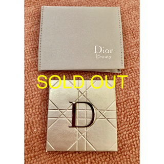 ディオール(Dior)のDior シルバーのミラーとミラー入れ ♡新品未使用♡(ミラー)