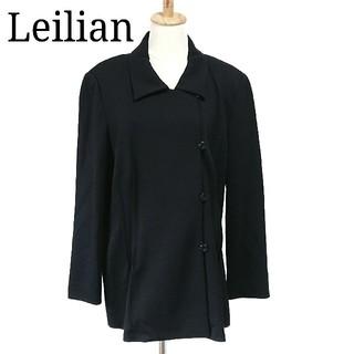 レリアン(leilian)の美品 レリアン ジャケット ステンカラーコート ミドル丈 大きいサイズ 13+(スプリングコート)