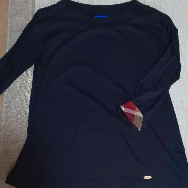 BURBERRY BLUE LABEL(バーバリーブルーレーベル)のブルーレーベルクレストブリッジ  カットソー  プルオーバー  トップス レディースのトップス(カットソー(長袖/七分))の商品写真
