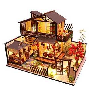 DIY木製ドールハウス ミニチュアコレクション LEDライト(模型/プラモデル)