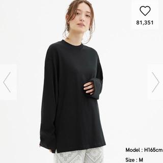 ジーユー(GU)の【GU】ロングスリーブT ネイビー(Tシャツ(長袖/七分))