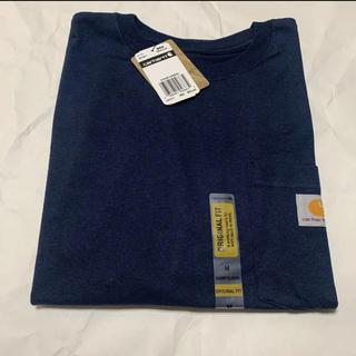 カーハート(carhartt)の【新品・未使用】carhartt カーハート ポケットTシャツ 半袖 ネイビー(Tシャツ/カットソー(半袖/袖なし))