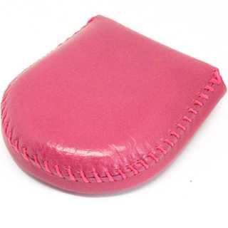 (東京下町工房)コインケース レディース 小銭入れ 本革 手縫い総仕上げ ピンク(コインケース)