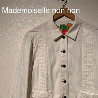 マルタンマルジェラ(Maison Martin Margiela)のMademoiselle non non  ジャケット/ホワイト(Gジャン/デニムジャケット)