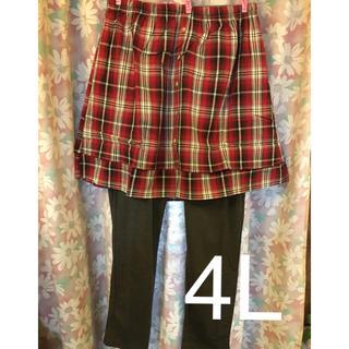 ニッセン(ニッセン)の大きいサイズ スカート付きレギンス 4L(レギンス/スパッツ)