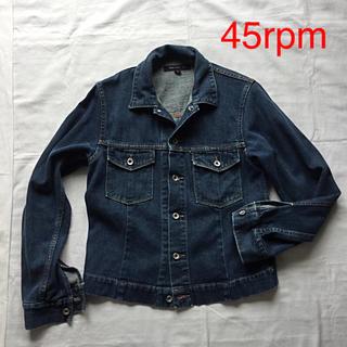 フォーティーファイブアールピーエム(45rpm)の美品 45R デニムジャケット Gジャン サイズ2(Gジャン/デニムジャケット)