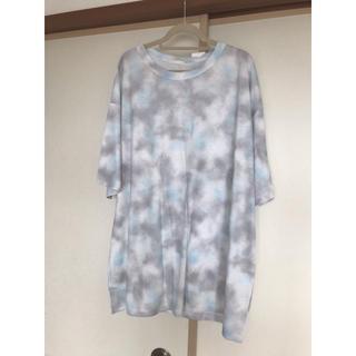 ジーユー(GU)の 【GU】ダイダイプリントT 5分袖 (Tシャツ(半袖/袖なし))