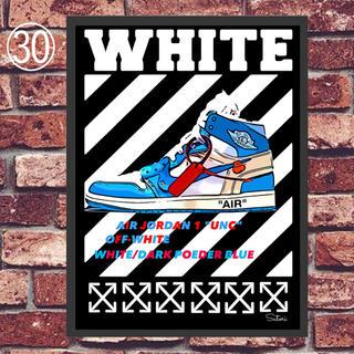 AIR JORDAN 1 off-white コミックシューズ ポスター 1枚