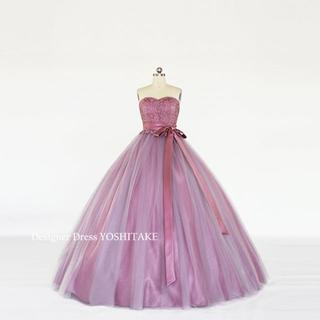 くすんんだピンクカラードレス(パニエ・サシェ付)ウエディング披露宴/二次会