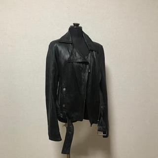 ザラ(ZARA)のleather jacket レディース(M)(レザージャケット)