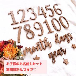 【期間限定6/2まで♡⃛】15点+星3つ+お子様のお名前 木製レターバナー(その他)