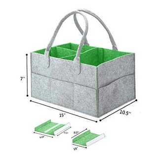 绿Mookisおむつストッカー オムツ収納ケース 折りたたみ 収納ボックス カゴ(ベビーおむつバッグ)