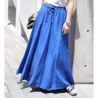 Spick and Span - スピックアンドスパン リネンマキシスカート 38 ブルー