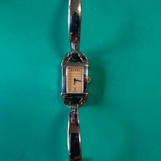グッチ(Gucci)のGUCCI レディース ピンク文字盤 電池交換済み(腕時計)