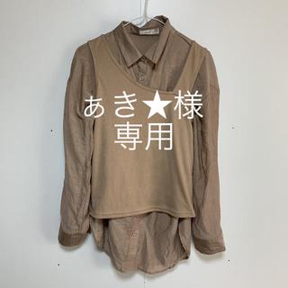 シマムラ(しまむら)のシアーシャツアシメタンクトップセット(シャツ/ブラウス(長袖/七分))