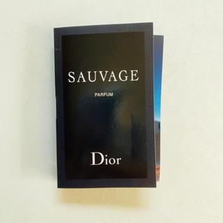 ディオール(Dior)の【新品】ディオール ソヴァージュ パルファン 1ml 試供品 サンプル(香水(男性用))