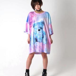 ミルクボーイ(MILKBOY)のTRAVAS TOKYO 宇宙柄 Cosmic くま bear BIG Tシャツ(Tシャツ/カットソー(半袖/袖なし))