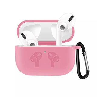 【ピンク】AirPods pro シリコンケース(ヘッドフォン/イヤフォン)