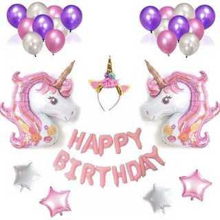 ピンク 誕生日 バルーン 風船 飾り 飾り付け ユニコーン サプライズ 装飾(その他)