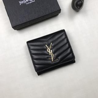 Yves Saint Laurent Beaute - 美品イヴ♪サンローラ 折り財♥布 ブラック Y♪S♪L 小銭♪入れ