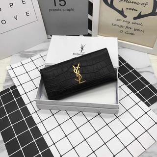 Yves Saint Laurent Beaute - Y♪S♪L イヴサンローラ 折り財♥布 ブラック 小銭♪入れ