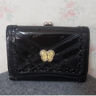アナスイ(ANNA SUI)のアナスイ☆三つ折り財布 エナメル ブラック(財布)