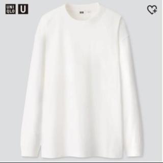 ユニクロ(UNIQLO)のユニクロ クルーネックT ロンT ホワイト L(Tシャツ/カットソー(七分/長袖))
