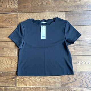 ジーユー(GU)のGU 半袖スカラップミニT Mサイズ 新品(Tシャツ(半袖/袖なし))