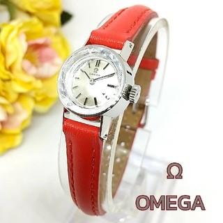 オメガ(OMEGA)の新品並美品 メンテOK オメガ Pt950 プラチナ無垢 レディース 手巻き時計(腕時計)