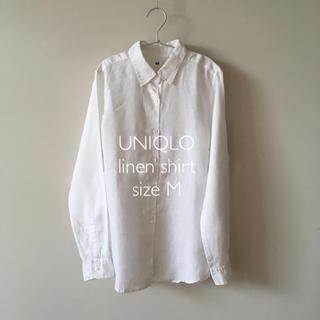 UNIQLO - 美品*UNIQLO*リネンシャツ ホワイト
