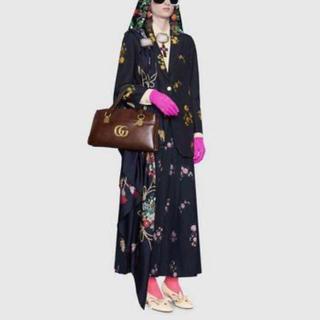 グッチ(Gucci)のgucci グッチ花柄スカート 36 バラ フローラ プリーツ ロング(ロングスカート)