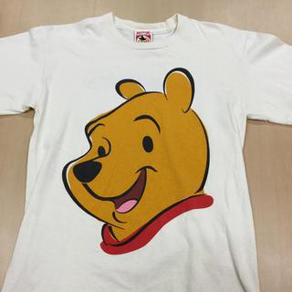 クマノプーサン(くまのプーさん)のクマのプーさん ビッグフェイスTシャツ(Tシャツ/カットソー(半袖/袖なし))