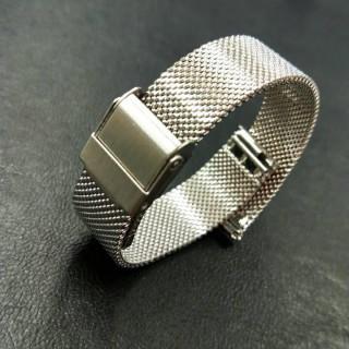 時計バンド ステンレス メッシュベルト 14mm ユニセックス 替えベルト(腕時計)