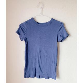 UNIQLO - リブ半袖Tシャツ
