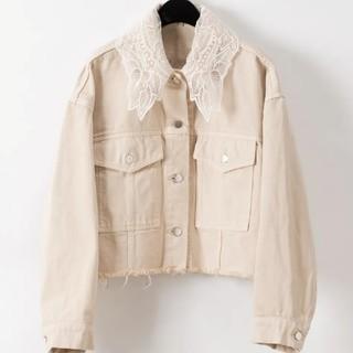 GRACE CONTINENTAL - グレースコンチネンタル刺繍襟デニムジャケット