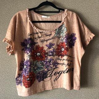 アクシーズファム(axes femme)の【axes femme】花柄Tシャツ(Tシャツ(半袖/袖なし))