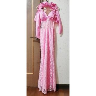 ピンクドレス(ロングドレス)