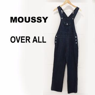 マウジー(moussy)のMOUSSY 濃紺デニムオーバーオール☆サイズ2(M)(サロペット/オーバーオール)