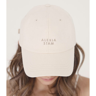 ALEXIA STAM - アリシアスタン Separated Logo Cap Ivory