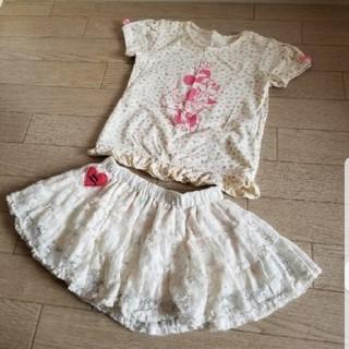 ディズニー(Disney)のミニー Tシャツ&スカート 90(スカート)