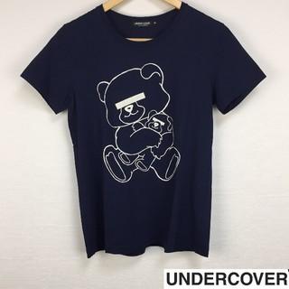 アンダーカバー(UNDERCOVER)の美品 アンダーカバー 半袖Tシャツ ネイビー サイズS(Tシャツ/カットソー(半袖/袖なし))