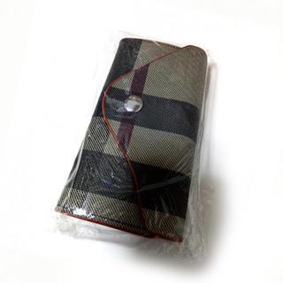 新品未使用品★6連カラナビ チェック柄 キーケース (キーホルダー)