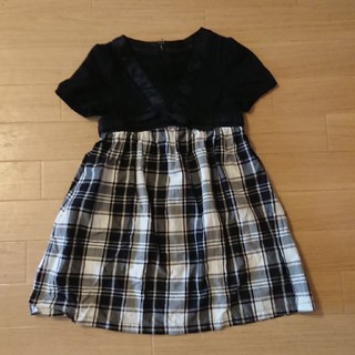 kumikyoku(組曲) - 組曲 ワンピース S 100 ~ 110 黒白チェック