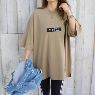 STUSSY - カリフォルニアスタイル☆ロサンゼルスビッグTシャツ Mサイズ カーキ  WTW